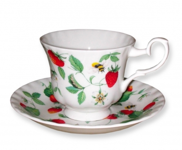 Roy Kirkham Alpine Strawberry Tee- Kaffeetasse und Untertasse 1 Stk
